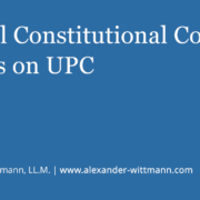 The Federal Constitutional Court decides on UPC