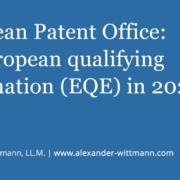 European Patent Office: No European qualifying examination (EQE) in 2020